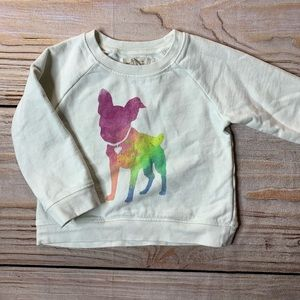 Zara rainbow silhouette dog sweatshirt 12-18 month